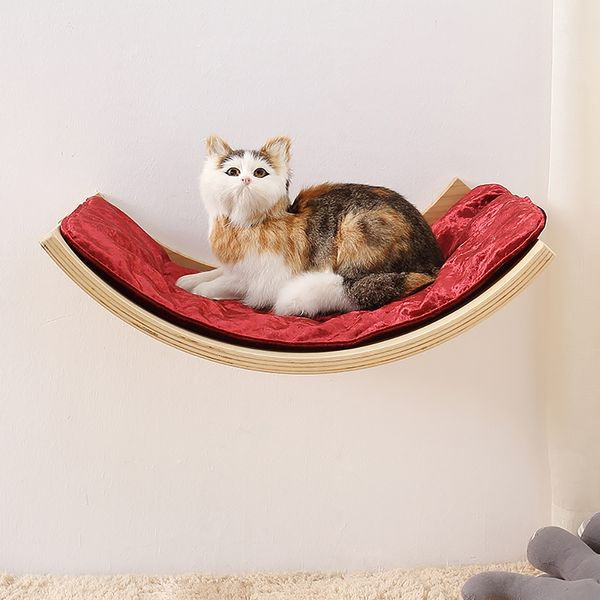 19 7 Curved Wall Mounted Cat Bed, Wall Mounted Cat Furniture Nz